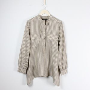 10d3b988b36947 Elizabeth and James Tops - Elizabeth and James June Silk Striped Tunic Shirt
